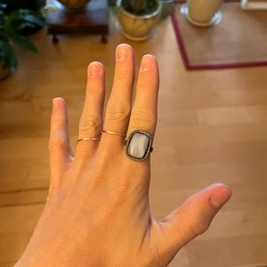 Anthropologie stone silver ring